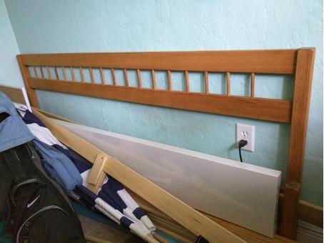 Oak King Size Platform Bed Frame